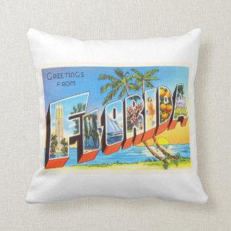 Florida State # 2 FL Old Vintage Travel Souvenir Throw Pillow