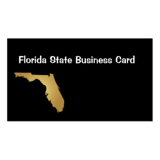 Florida State Business Card Metallic Gold
