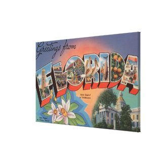Florida (State Capital Scene) Gallery Wrapped Canvas