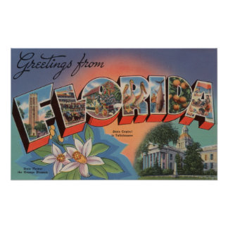 Florida (State Capital Scene) Posters
