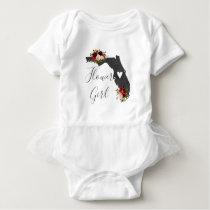 Florida State Destination Wedding Flower Girl Baby Bodysuit