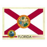 Florida State Flag and Seal Postcard