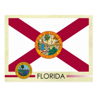 Florida State Flag and Seal Postcard
