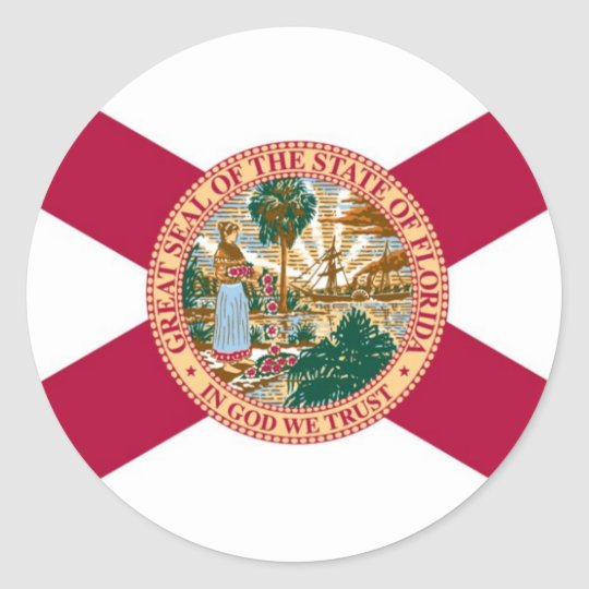 Florida State Flag Classic Round Sticker