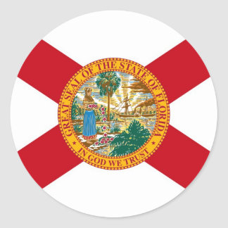 Florida State Flag Classic Round Sticker
