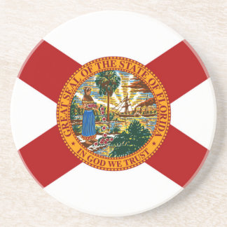 Florida State Flag Beverage Coasters