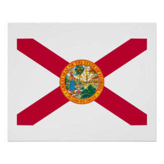 Florida State Flag Design Poster