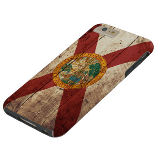Florida State Flag on Old Wood Grain Tough iPhone 6 Plus Case