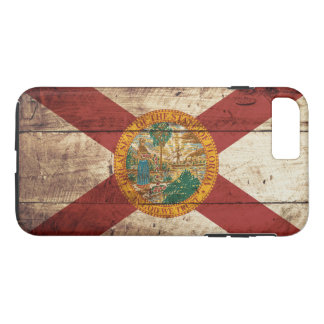 Florida State Flag on Old Wood Grain iPhone 7 Plus Case
