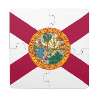Florida State Flag Puzzle Coaster