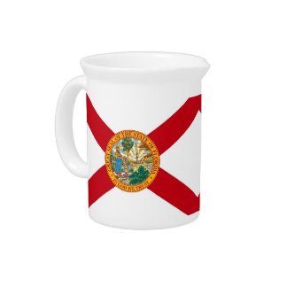 Florida State Flag Pitcher