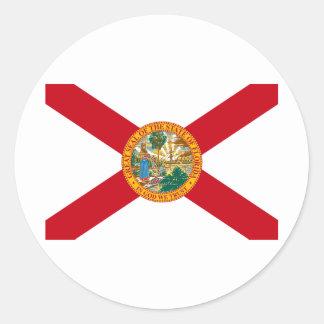 Florida State Flag Round Sticker