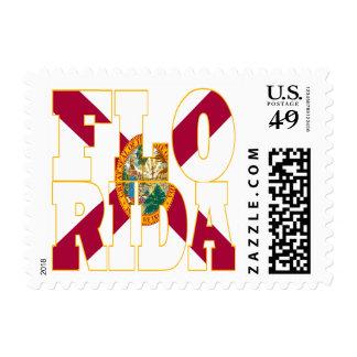 Florida state flag text postage