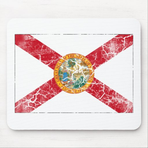 Florida State Flag Vintage Mouse Pad