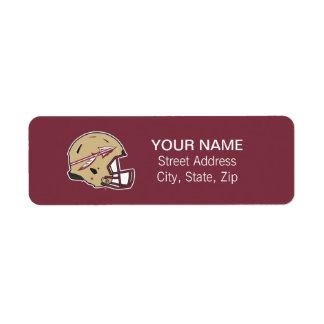 Florida State Football Helmet Label