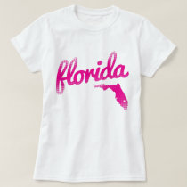 Florida state in pink T-Shirt