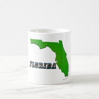 Florida State Map and Text Coffee Mug