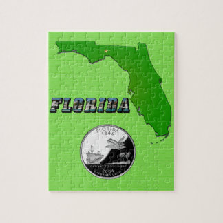 Florida State Map and Text Jigsaw Puzzle