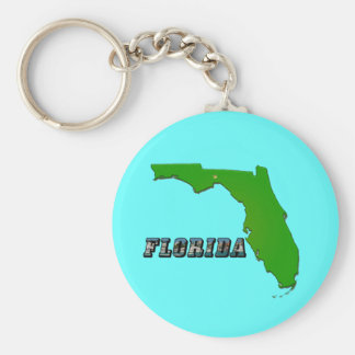 Florida State Map and Text Keychain