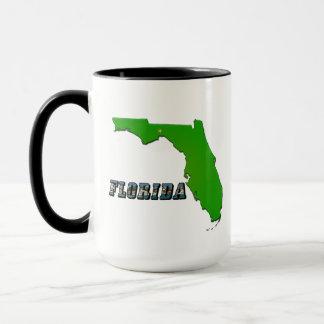 Florida State Map and Text Mug