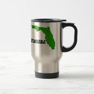 Florida State Map and Text Travel Mug