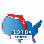 Florida state map cut outs