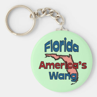 Florida State Motto ~ America's Wang Basic Round Button Keychain