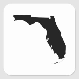 Florida State Outline Square Sticker