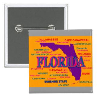 Florida State Pride Map Silhouette Button