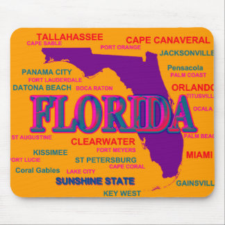 Florida State Pride Map Silhouette Mouse Pad