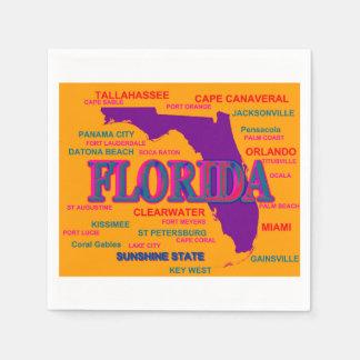 Florida State Pride Map Silhouette Napkin