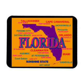 Florida State Pride Map Silhouette Vinyl Magnets