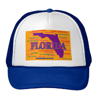 Florida State Pride Map Silhouette Trucker Hat