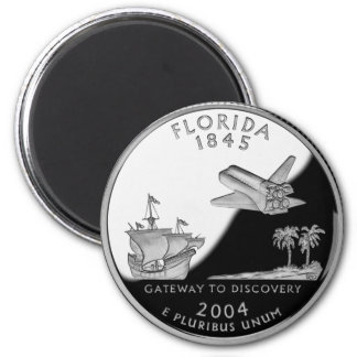 Florida State Quarter 2 Inch Round Magnet