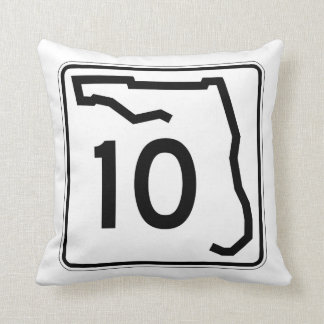 Florida State Route 10 Throw Pillow