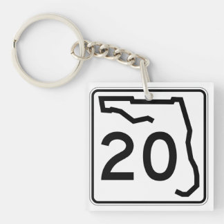 Florida State Route 20 Keychain