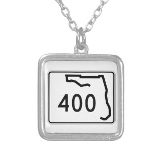 Florida State Route 400 Silver Plated Necklace