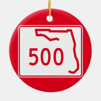 Florida State Route 500 Ceramic Ornament
