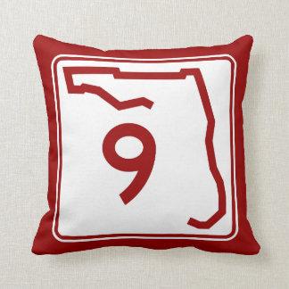 Florida State Route 9 Throw Pillow