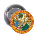 Florida State Seal 2 Inch Round Button