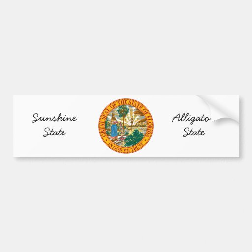 Florida State Seal and Motto Bumper Stickers