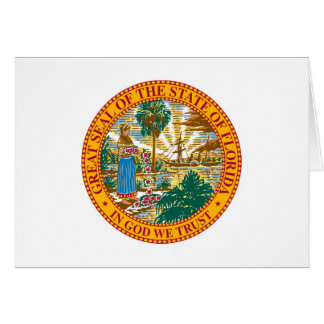 Florida State Seal and Motto Card