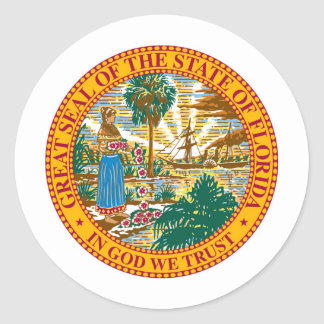 Florida State Seal and Motto Classic Round Sticker