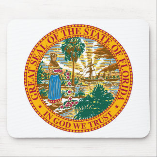 Florida State Seal and Motto Mouse Pad