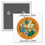 Florida State Seal and Motto Pinback Buttons