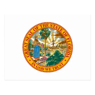 Florida State Seal and Motto Postcard