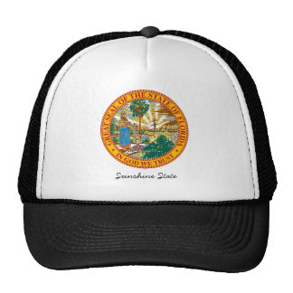 Florida State Seal and Motto Trucker Hat
