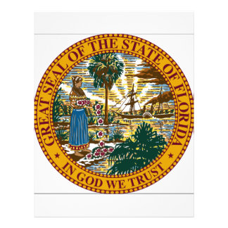 Florida State Seal Letterhead Design