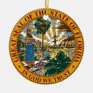 Florida State Seal Christmas Tree Ornament