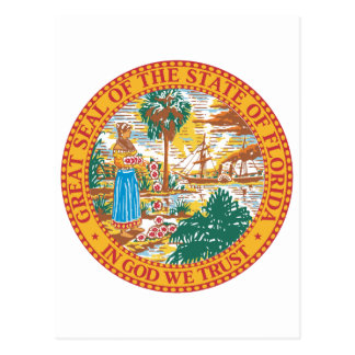 Florida State Seal Postcard